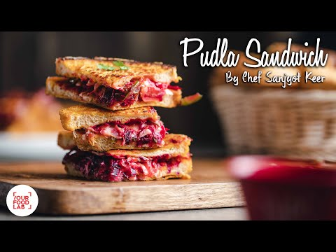 Pudla Sandwich Recipe | Chef Sanjyot Keer | #StayHome #WitheMe
