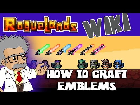 ROGUELANDS WIKI - How to CRAFT EMBLEMS - Roguelands Tutorial