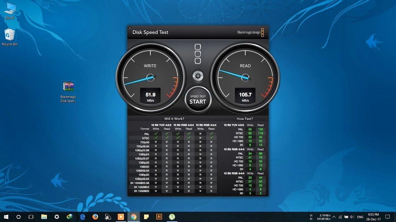 Latest Black Magic Disk Speed Test | Windows Version | Direct download link