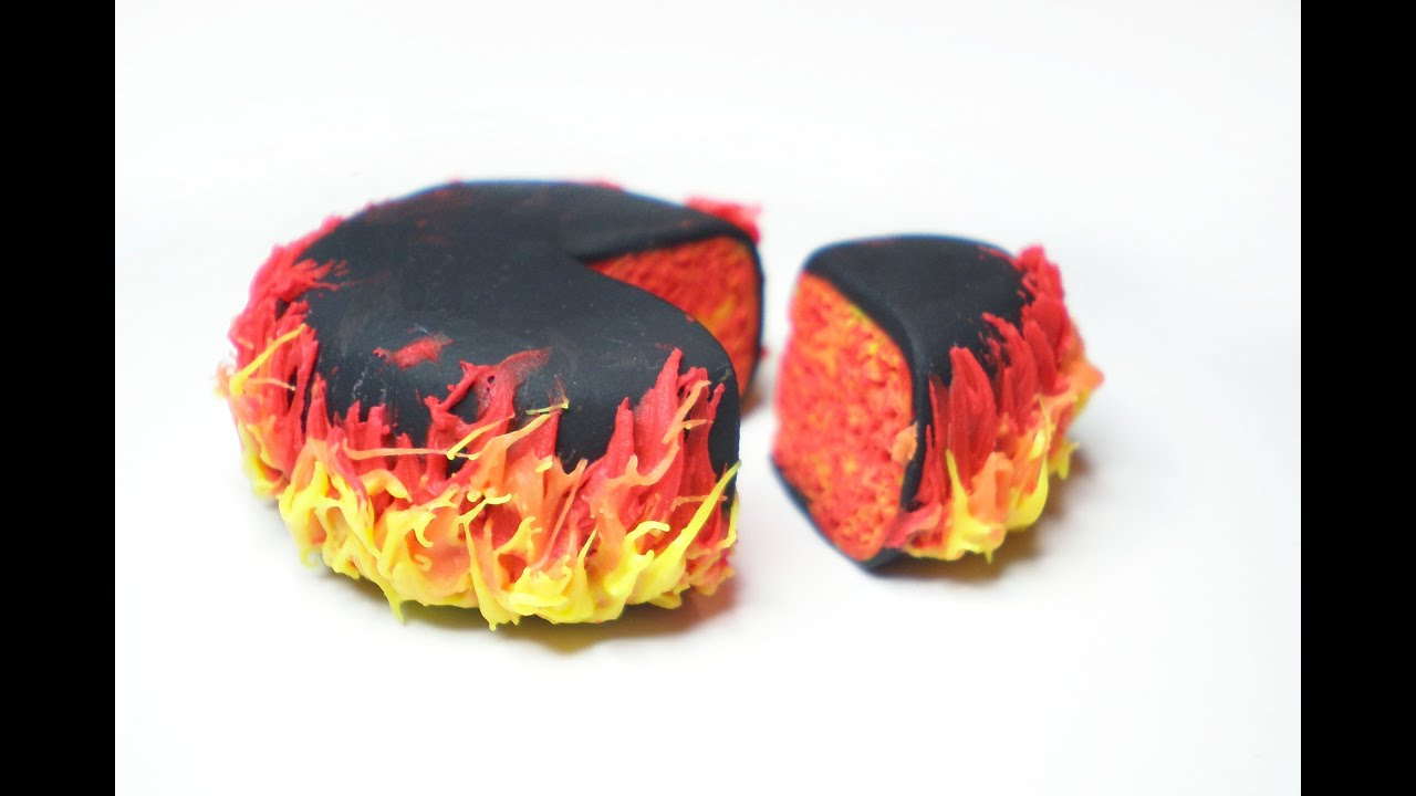 Fire Made Of Clay : Clay made easy fire flame cake youtube