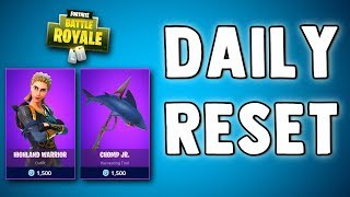 FORTNITE DAILY SKIN RESET - HIGHLAND WARRIOR - Fortnite Battle Royale New Daily Items in Item Shop