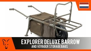 ***Fox Karpervissen TV*** Explorer Deluxe Barrow + Large Cooler/Cooler/storage bag