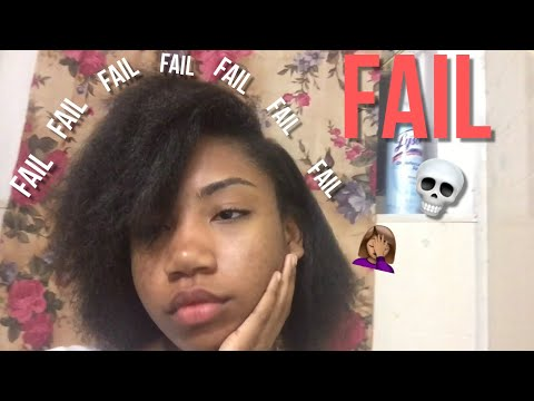 STRAIGHTENING MY NATURAL HAIR *FAIL*
