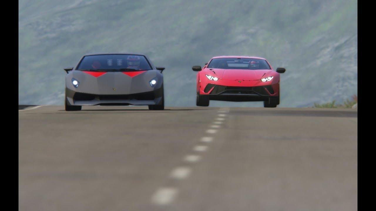 Lamborghini Sesto Elemento Vs Lamborghini Huracan Performante At