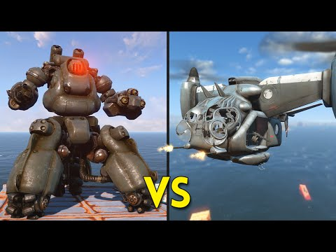 Fallout 4 - 10 VERTIBIRDS vs 10 SENTRY BOTS - Battles #45 |