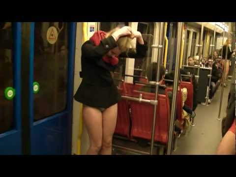 No pants day Amsterdam metro ride 2012 - 2