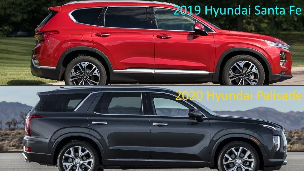 new 2020 hyundai palisade vs old 2019 hyundai santa fe. Black Bedroom Furniture Sets. Home Design Ideas