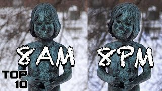 Top 10 Scary Statues Caught Moving - Part 3