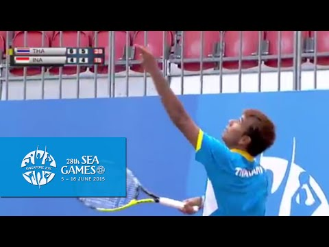 Tennis Team Men's Team Final (Day 4) - Thailand vs Indonesia Match 3 | 28th SEA Games Singapore 2015