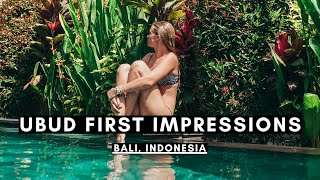 Gambar cover FIRST IMPRESSIONS OF UBUD, BALI | BALI VLOG #001