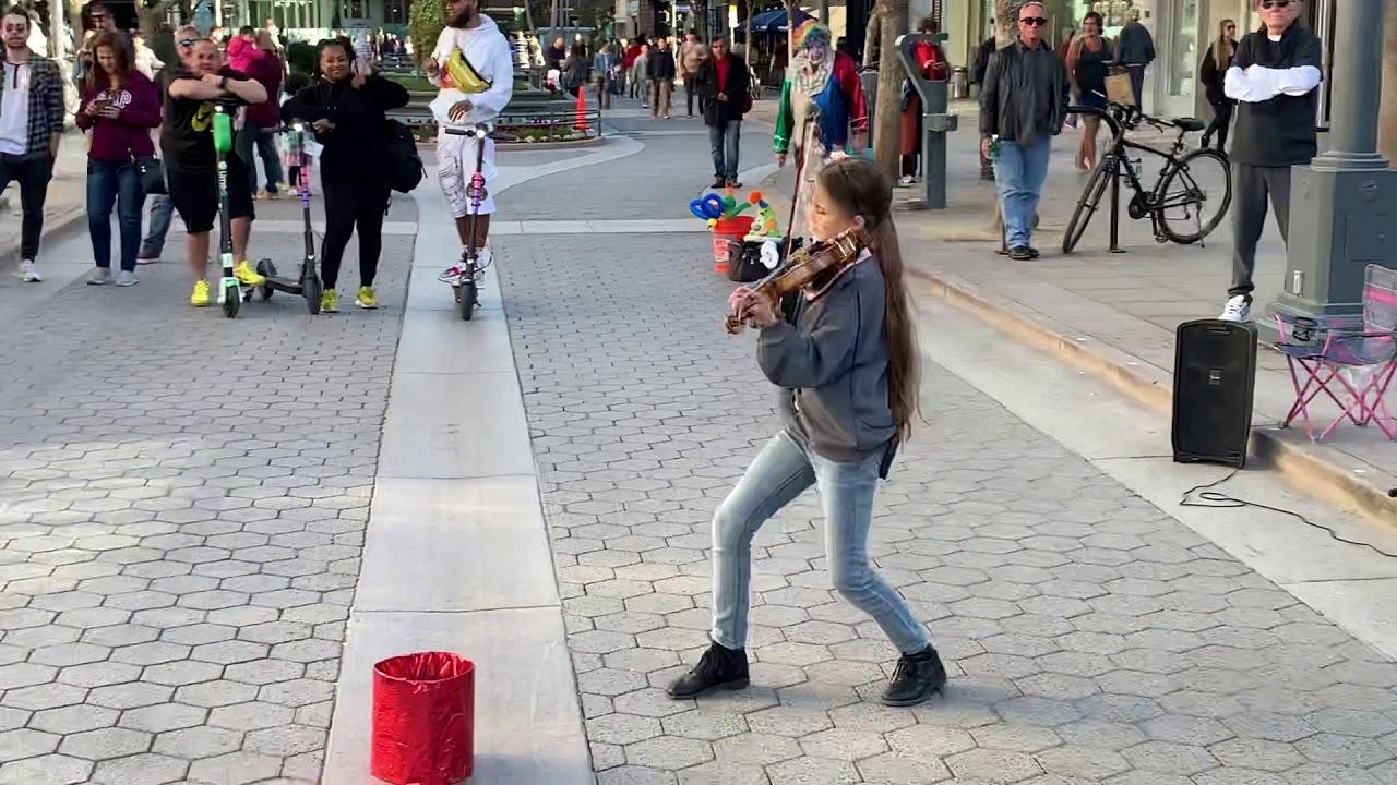 See You Again Karolina Protsenko Is Playing Violin On 3rd Street Promenade Of Santa Monica Youtube