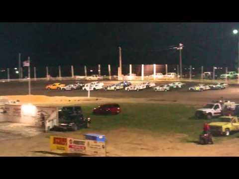 IMCA Stock Car main 4-23-16 Cardinal Motor Speedway