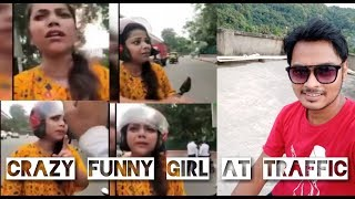 CRAZY FUNNY GIRL | FIGHT WITH TRAFFIC POLICE | VICKY SUKLA
