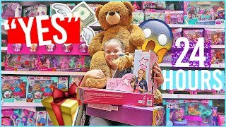 24 HOURS SAYING YES TO EVERYTHING MY 9 YEAR OLD SISTER WANTS! 24 HOUR CHALLENGE