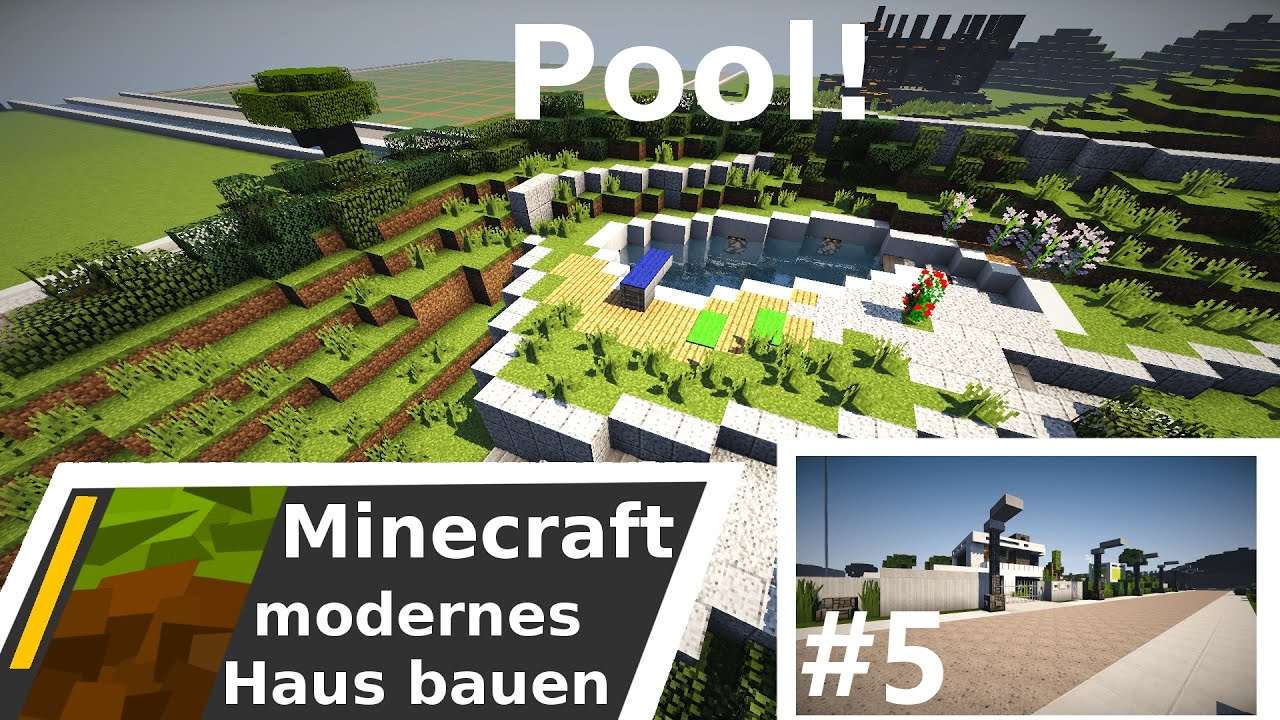 Minecraft modernes haus villa bauen time lapse for Minecraft modernes haus 20x20