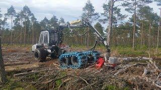 Malwa 560C, Logmax 928A - Harvesting, Loading & Unloading. (Testdrive)