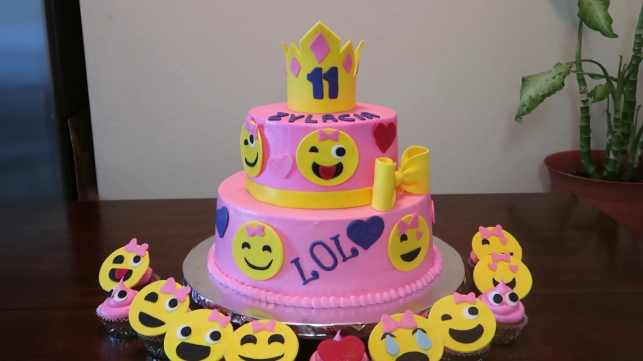 Emoji Faces Cake Emojis Party Ideas Diy How To Youtube