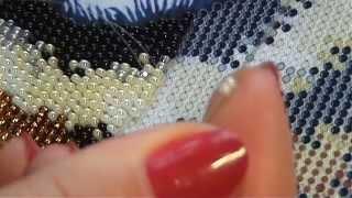 #вышивкабисером Как вышивать бисером в круговой технике? Моя организация и процесс вышивания.