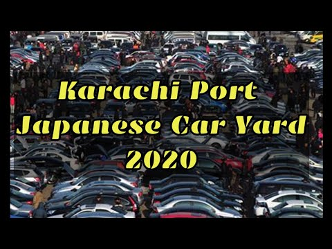 Karachi Port Car Clearing Yard | Japanese Damage Cars in Kar