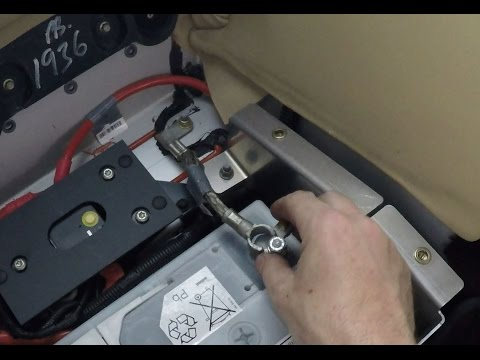 Reconnecting the Battery in an Aston Martin DB9 - YouTube