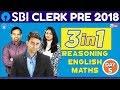SBI CLERK PRE 2018 | 3 In 1 ( English - Reading Comprehension) DAY3 | Online Coaching For SBI