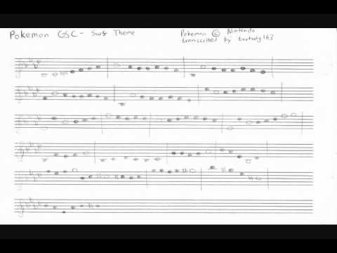 Pokemon Gsc Surf Theme Sheet Music Violin Cover Youtube