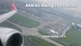 Flying With 24 Year Old Boeing 737 500 Classic Take Off From Cgk Youtube