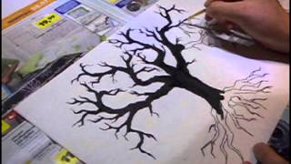 How to draw trees tutorial and speedpaint
