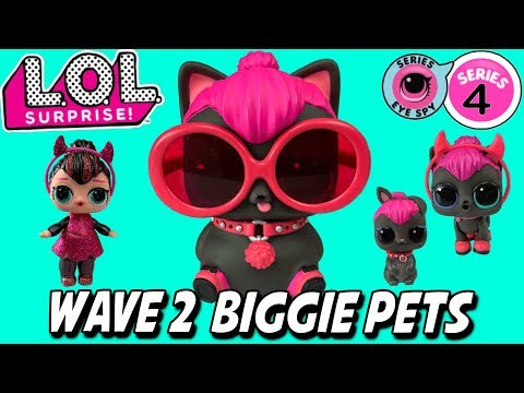 LOL Surprise Series 4 Wave 2 Biggie Pets Spicy Kitty Wave 2 Biggie Pet Unboxing LOL Dolls Family