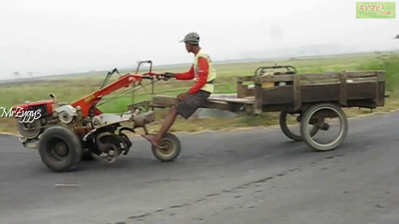 Yanmar Tractor 2 Wheel : Riding yanmar rotary hand tiller wheel tractor youtube