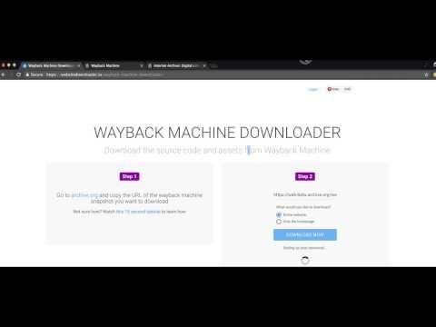 Wayback Machine Downloader Tutorial