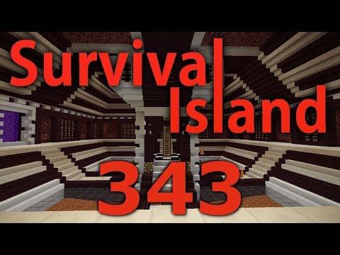 Minecraft- Survival Island [343] Nether Hub Boat Paths!