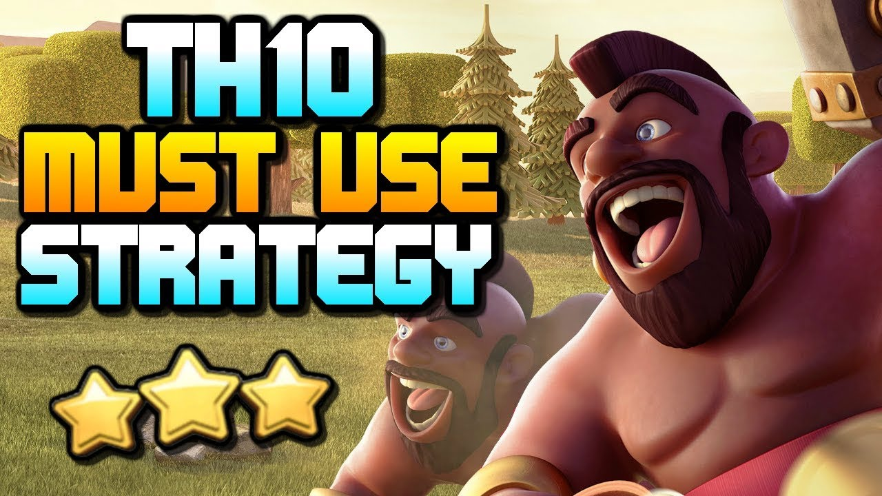 MUST USE TH10 ATTACK STRATEGY | 3 Star with Hog Riders | Clash of Clans