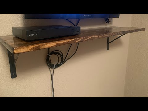 DIY Wooden Shelf with metal brackets