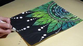 Leaf Mandala Doodle Drawing #BeCre8ive2