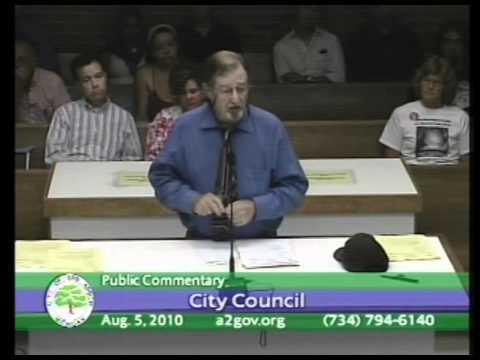 Dennis Hayes - A2 City Council - 8/5/2010