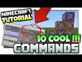 Minecraft - 10 COOL COMMANDS [ Easy Tutorial ] MCPE / Xbox /Java / Windows 10