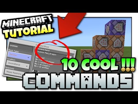 Minecraft Xbox - 10 COOL COMMANDS [ B.T.U ] Tutorial - MCPE / Windows 10 / JAVA / Switch