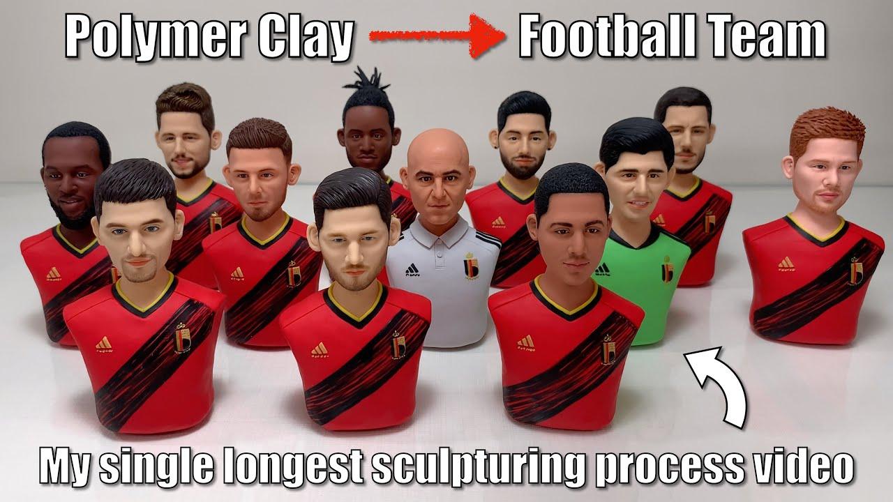 Clay sculpt the EURO 2021 Belgium National Football Team, Go Belgium Go!【BELGIUM SQUAD EURO 2021】