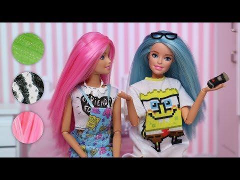 Barbie Microscope Challenge Stop Motion - Kira and Rika
