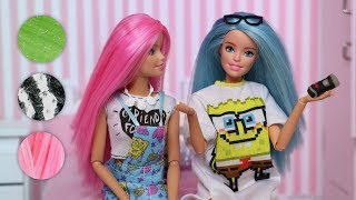 Barbie Microscope Challenge Stop Motion with Kira and Rika