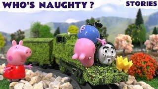 Peppa Pig Naughty George Play Doh Funny Game Thomas & Friends Tom Moss Kids Stories Pepa Toys