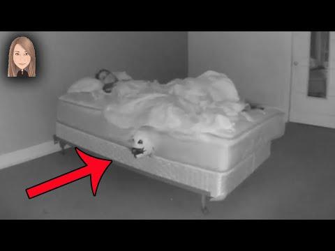 Самые жуткие призраки и существа снятые ночью под кроватью!