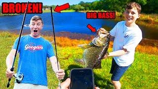 Kid Catches PERSONAL BEST Bass (Broken Rod!)