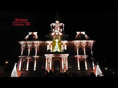 Guernsey County Courthouse Holiday Light Show 2015