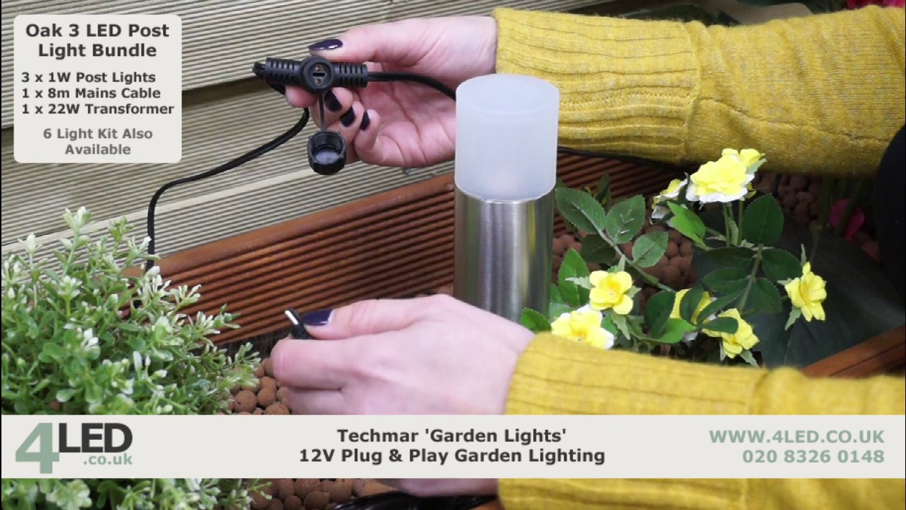 Techmar 12V Plug U0026 Play Oak LED Post Light Kit