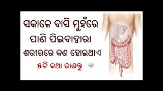 Sakalu Basi Muhanre Pani Piiba Dwara Sarirare Kana Hoithae 5ti Janiba katha //Health Tips In Odia
