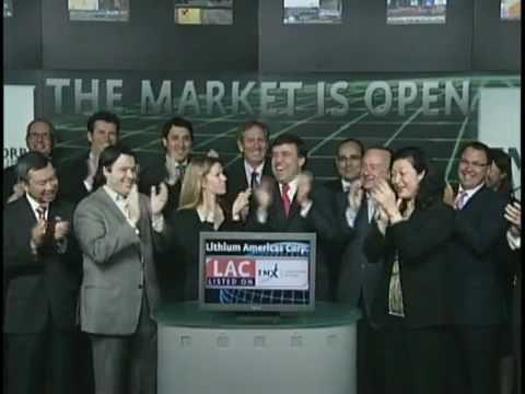 Lithium Americas Corp. opens Toronto Stock Exchange, June 11, 2010.
