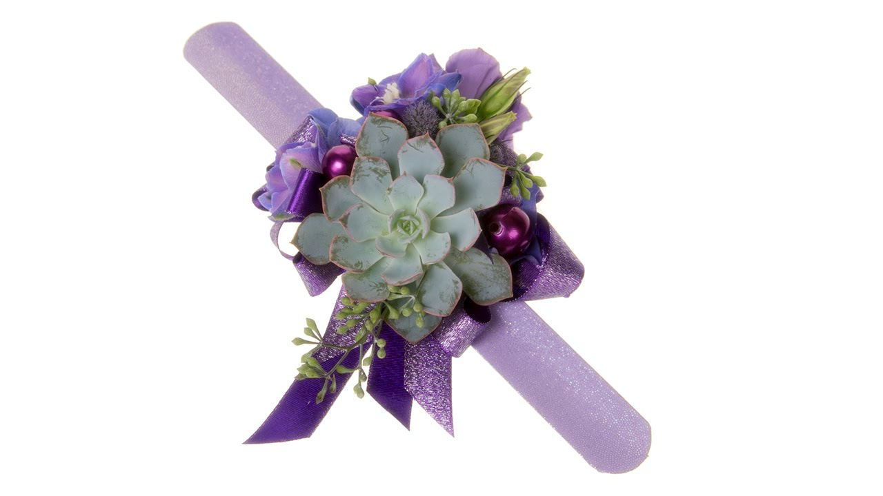 How to make a slap bracelet wrist corsage