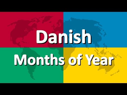 Learn Danish part 2 | Months of the Year